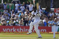 November 7, 2018 - Galle, Sri Lanka - Sri Lankan cricketer Angelo Mathews plays a shot during the 2nd day's play of the first test cricket match between Sri Lanka and England at Galle International cricket stadium, Galle, Sri Lanka. 11-07-2018  (Credit Image: © Tharaka Basnayaka/NurPhoto via ZUMA Press)