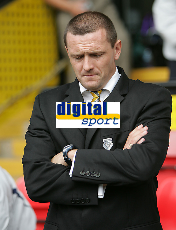 Photo: Lee Earle.<br /> Watford v Manchester United. The Barclays Premiership. 26/08/2006. Watford manager Adrian Boothroyd.