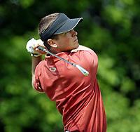 Photograph: Scott Heavey, Digitalsport<br />Volvo PGA Championship At Wentworth Club. 24/05/2003.<br />Henrik Bjørnstad swings from the 14th tee.