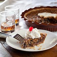 Harlen Wheatley's Kentucky Pie Creation, Bourbon Pecan Chocolate Pie