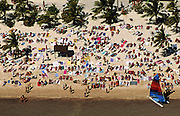 USA, Lifestyle, Landscape, Aerial, and Travel Photography by Randy Wells, Images of America, Elevated view from plane, Sunbathers on Smathers Beach in Key West, Florida, American Southeast by Randy Wells