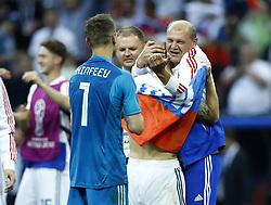 July 1, 2018 - Moscow, Russia - Round of 16 Russia v Spain - FIFA World Cup Russia 2018.Russia celebration at Luzhniki Stadium in Moscow, Russia on July 1, 2018. (Credit Image: © Matteo Ciambelli/NurPhoto via ZUMA Press)