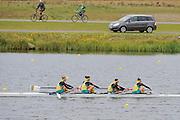 Eton. Great Britain. AUS JW4-,  B Final, FISA Junior  World Rowing Championships. Dorney Lake, Nr Windsor. Saturday, 06/08/2011 [Mandatory credit: Intersport Images]