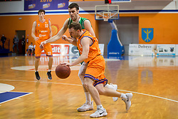 Jure Mocnik of KK Helios Suns during basketball match between KK Helios Suns and KK Petrol Olimpija in Playoffs of Liga Nova KBM 2017/18, on March 26, 2018 in Hala Kominalnega Centra, Domzale, Slovenia. Photo by Urban Urbanc / Sportida