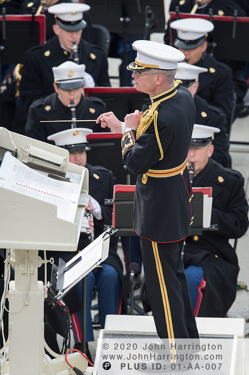 """Col. Michael J Colburn, Director of the """"Presidents Own"""" United States Marine Band at the 57th Presidential Inauguration of President Barack Obama at the U.S. Capitol Building in Washington, DC January 21, 2013."""