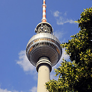 The TV tower in Berlin, symbol of the city