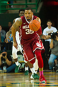 WACO, TX - JANUARY 24: TaShawn Thomas #35 of the Oklahoma Sooners brings the ball up court against the Baylor Bears on January 24, 2015 at the Ferrell Center in Waco, Texas.  (Photo by Cooper Neill/Getty Images) *** Local Caption *** TaShawn Thomas