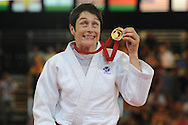 Commonwealth Games, Glasgow 2014<br /> SECC Judo<br /> Women's-63kg Final<br /> Sarah Clark v Helene Wezeu Dombeu<br /> <br /> Sarah Clark wins another Gold in the -63kg Judo class <br /> <br /> <br />  Neil Hanna Photography<br /> www.neilhannaphotography.co.uk<br /> 07702 246823