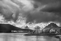 Autumn storm, Oxbow Bend, Grand Teton National Park