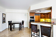 Dining Space in the interior of a condominium Photographed in Las Vegas, Nevada USA