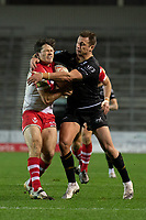 Rugby League - 2020 Betfair Super League - Semi-final - St Helens vs Catalan Dragons - TW Stadium<br /> <br /> St. Helens's Lachlan Coote is tackled by Catalans Dragons's Josh Drinkwater<br /> <br /> COLORSPORT/TERRY DONNELLY