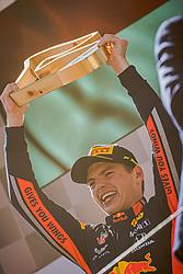 30.06.2019, Red Bull Ring, Spielberg, AUT, FIA, Formel 1, Grosser Preis von Österreich, Siegerehrung, im Bild 1. Platz Max Verstappen (NED, Red Bull Racing) // Winner Dutch Formula One driver Max Verstappen of Red Bull Racing during the Winner ceremony for the Austrian FIA Formula One Grand Prix at the Red Bull Ring in Spielberg, Austria on 2019/06/30. EXPA Pictures © 2019, PhotoCredit: EXPA/ Dominik Angerer