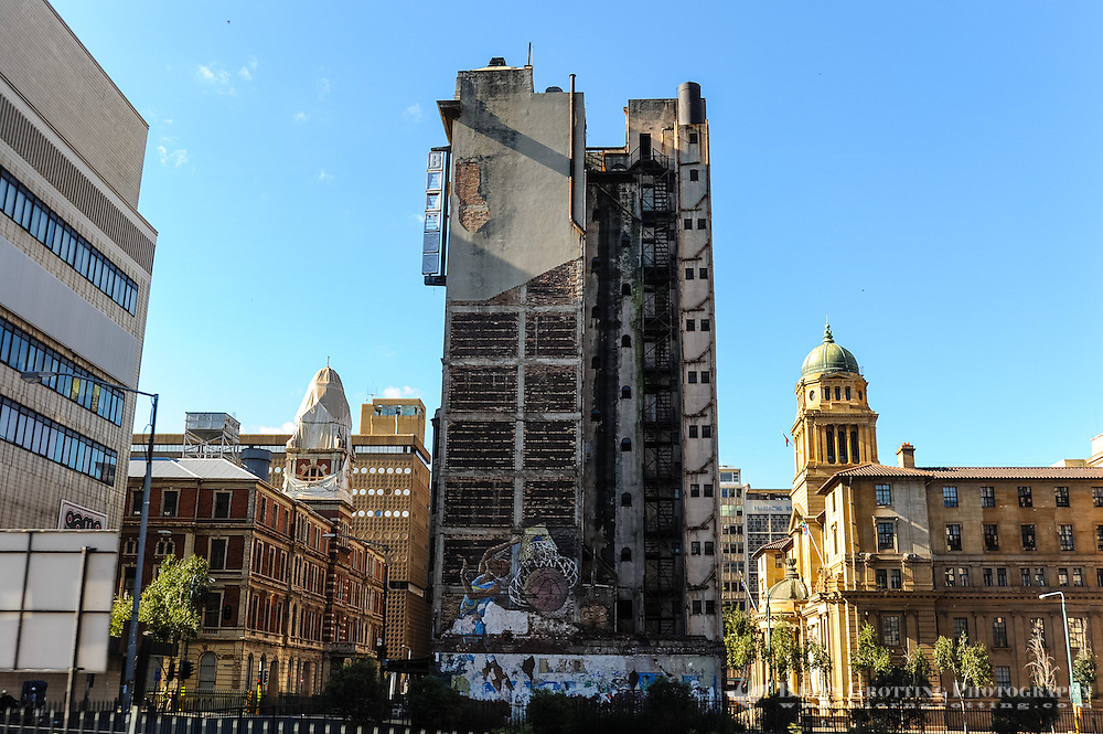 Abandoned buildings. Johannesburg is the largest city in South Africa, and the provincial capital of Gauteng.