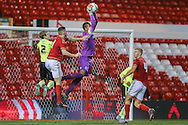 Nottingham Forest U/18  goalkeeper Joe Boyd  during the FA Youth Cup match between U18 Nottingham Forest and U18 Brighton at the City Ground, Nottingham, England on 10 December 2015. Photo by Simon Davies.