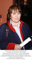 Broadcaster LIBBY PURVES at a luncheon in London on 18th March 2003.PIB 52