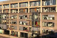 the Rheinau harbour, the Reclay House, Cologne, Germany.<br /> <br /> Rheinauhafen, das Reclay House, Koeln, Deutschland.