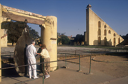 Jantar Mantar the astronomical observatory at Jaipur; India; made by Jai Singh in 172834,