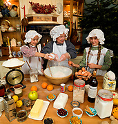 Granny Eileen bakin g the christmas cake in County Kerry Ireland.<br /> Picture by Don MacMonagle -macmonagle.com