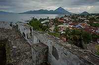 Fort Tolukko, restored Portugese fort dating from 1512 overlooking Ternate harbor.  Ternate is the ancient capitol of the spice trade.