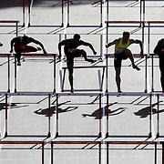 The IAAF Diamond League Sainsbury's Glasgow Grand Prix. Hampden Park, Glasgow, Scotland.   110m Hurdles Men- Heat 2<br /> Picture Robert Perry EPA 11th July 2014
