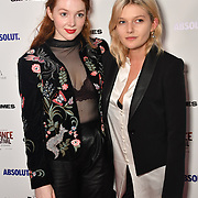 Sophie Kennedy Clark (R) Lucy Rose Leonard (L) attends Raindance Film Festival Gay Times Gala screening - George Michael: Freedom (The Director's Cut) London, UK. 4th October 2018.