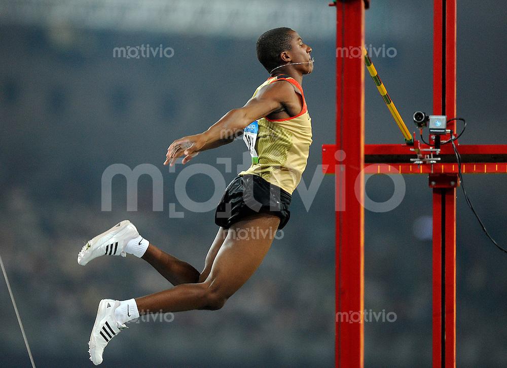 Olympia 2008  Peking   20.08.2008 Leichtathletik Stabhochsprung Raphael HOLZDEPPE (GER).