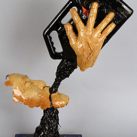 """Courtesy Photo<br /> Kathy Whitman Elk Woman's sculpture, """"Choosing Oil Over Water… Water is Sacred,"""" will be featured in the Museum of Indian Arts and Culture's upcoming art exhibit """"Beyond Standing Rock."""" The exhibit opens Saturday and will run through Oct. 27."""