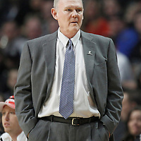 26 March 2012: Denver Nuggets head coach George Karl is seen during the Denver Nuggets 108-91 victory over the Chicago Bulls at the United Center, Chicago, Illinois, USA. NOTE TO USER: User expressly acknowledges and agrees that, by downloading and or using this photograph, User is consenting to the terms and conditions of the Getty Images License Agreement. Mandatory Credit: 2012 NBAE (Photo by Chris Elise/NBAE via Getty Images)