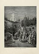 Signs from Heaven Plate IX from the book Story of the crusades. with a magnificent gallery of one hundred full-page engravings by the world-renowned artist, Gustave Doré [Gustave Dore] by Boyd, James P. (James Penny), 1836-1910. Published in Philadelphia 1892