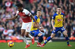 Arsenal's Alex Iwobi during the Premier League match at the Emirates Stadium, London.