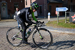 Holly Breck across the cobbles at Le Samyn des Dames 2018 - a 103 km road race on February 27, 2018, from Quaregnon to Dour, Belgium. (Photo by Sean Robinson/Velofocus.com)