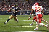 St. Louis Rams running back Steven Jackson (39) sprints towards the end zone as Kansas City defensive back Patrick Surtain (23) moves in for the tackle in the second quarter at the Edward Jones Dome in St. Louis, Missouri, November 5, 2006.  The Chiefs beat the Rams 31-17.<br />