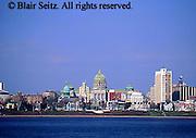 PA Capitol, Harrisburg Skyline, Susquehanna River, Daytime