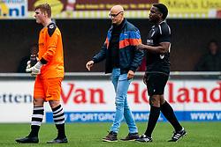 Shane van Zanten of VV Maarssen, /Etienne, Ferdi Vrede of VV Maarssen in action. First friendly match after the Corona outbreak. VV Maarssen lost the away match against big league Spakenburg 5-1 on 4 July 2020 in Spakenburg.