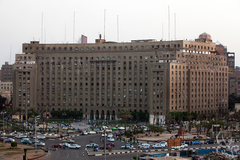 The civic Mogamma building is seen in Tahrir Square in central Cairo September 26, 2011. The building, which houses numerous government offices, is viewed as a corner stone of Egyptian bureaucracy.  (Photo by Scott Nelson)