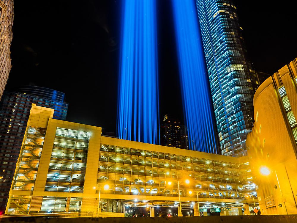 9/11 Memorial  Blue Lights, NYC