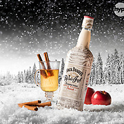 A product photograph of a Jack Daniels Winter Jack product, photographed and retouched in the Hype Photography studio by Stuart Freeman.