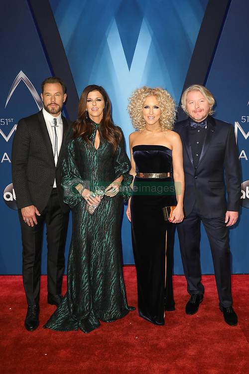 Thomas Rhett at the 51st Annual Country Music Association Awards hosted by Carrie Underwood and Brad Paisley and held at the Bridgestone Arena on November 8, 2017 in Nashville, TN. © Curtis Hilbun / AFF-USA.com. 08 Nov 2017 Pictured: Phillip Sweet and Karen Fairchild and Kimberly Schlapman and Jimi Westbrook of Little Big Town. Photo credit: MEGA TheMegaAgency.com +1 888 505 6342