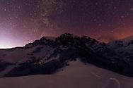 Winter night in Balkan Mountains