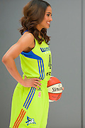 Skylar Diggins of the Dallas Wings poses for a photo during the team media day in Arlington, Texas on May 5, 2016.  (Cooper Neill for The New York Times)