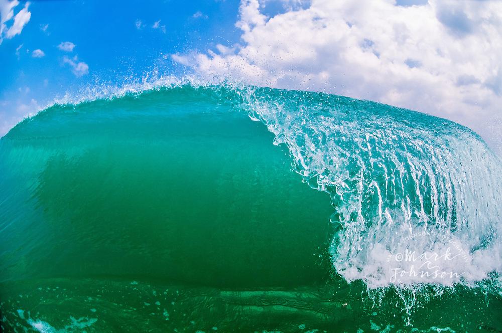 Kailua, Oahu, Hawaii, USA --- Breaking wave, Kailua Shorebreak, Oahu, Hawaii
