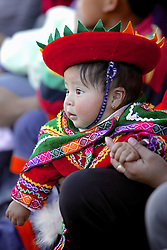 young girl at festival in plaza de armas