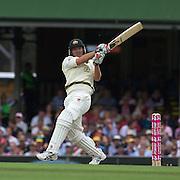 Nathan Hauritz batting during the Australia V Pakistan 2nd Cricket Test match at the Sydney Cricket Ground, Sydney, Australia, 3 January 2010. Photo Tim Clayton