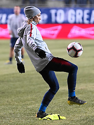 February 28, 2019 - Chester, United States - Tobin Heath of The United States juggling the ball .during the She Believes Cup football match between The United States and Japan at Talen Energy Stadium on February 27, 2019 in Chester, Pennsylvania, United States. (Credit Image: © Action Foto Sport/NurPhoto via ZUMA Press)