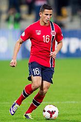 Omar Elabdellaoui of Norway during the FIFA World Cup 2014 Group E qualification match between Slovenia and Norway on October 11, 2013 in Stadium Ljudski vrt, Maribor, Slovenia. (Photo by Urban Urbanc / Sportida)