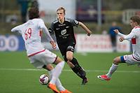 Fotball<br /> 18.04.2018<br /> Norgesmesterskap<br /> Stemmemyren<br /> Sandviken - Brann<br /> Ivar Stenberg Skaar (L) og Helge Mehammer (R) , Sandviken<br /> Nicholas Marthinussen  (M) , Brann<br /> Foto: Astrid M. Nordhaug