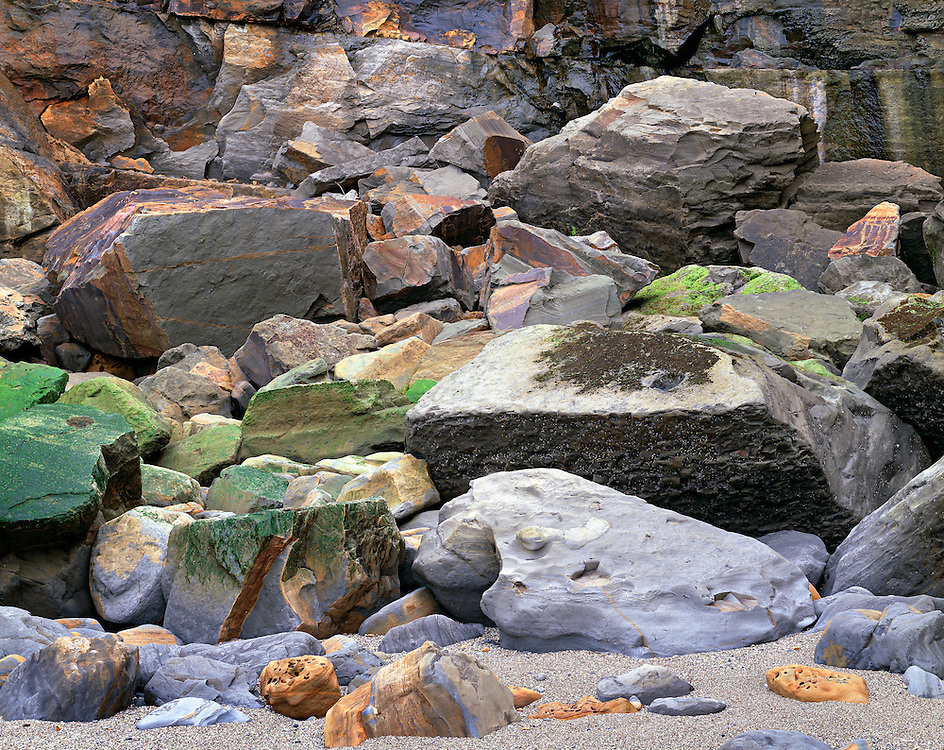 Abstract Design of Tidal Rocks and Eroded Cliff, Boiler Bay, Oregon