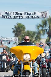 Riding down Main Street during Daytona Beach Bike Week 2015. FL, USA. Sunday March 8, 2015.  Photography ©2015 Michael Lichter.