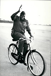 Apr. 04, 1979 - Amin Uganda: A rece4nt picture of Field Marshall Idi Amin as he bicycles away. Reports from Uganda suggest that Amin had fled and is now in Iraq. Credit: Camerapix. (Credit Image: © Keystone Press Agency/Keystone USA via ZUMAPRESS.com)