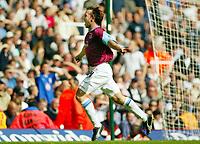 Photograph: Scott Heavey.<br />West Ham United v Millwall. Nationwide Division 1. 28/09/2003.<br />David Connolly celebrates scoring for West Ham
